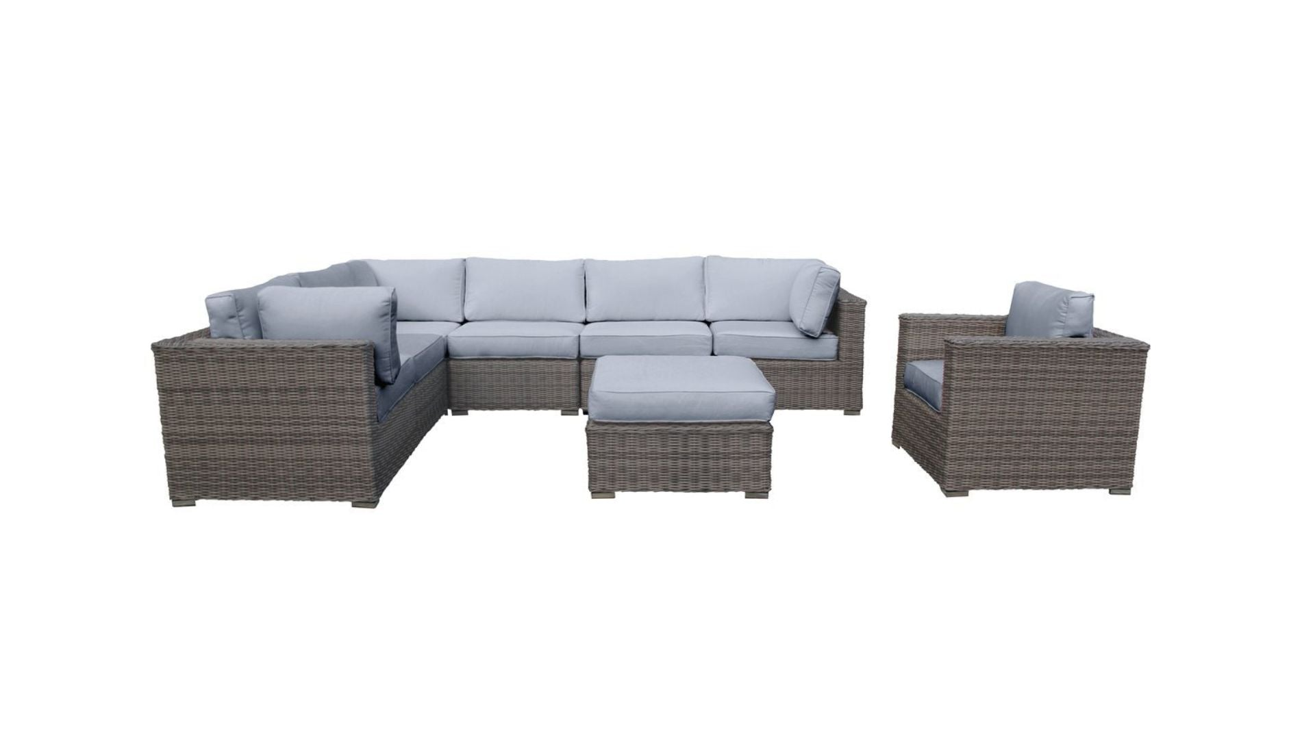 The Rockies - 8pc Sunbrella® Outdoor Patio Furniture - Cozy Corner Patios