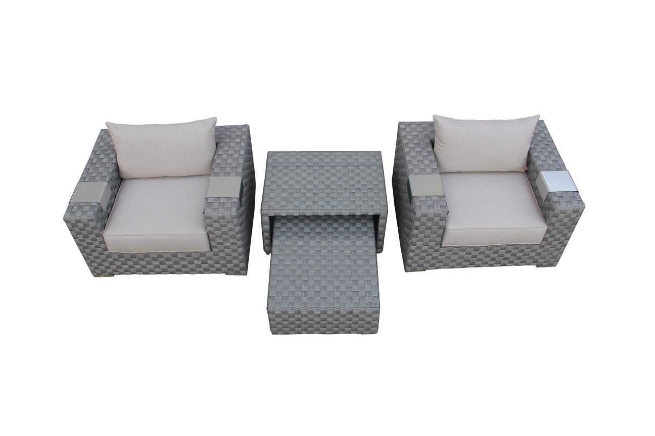 The Pinnacles - 4pc Sunbrella® Outdoor Sofa Set (Royale Series)