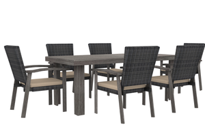 The Mesa Verde(Wicker) - 4, 6 & 8 Seater Sunbrella® Outdoor Dining Set - (Eagle Series) - Cozy Corner Patios