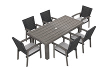 Load image into Gallery viewer, The Mesa Verde(Wicker) - 4, 6 & 8 Seater Sunbrella® Outdoor Dining Set - (Eagle Series) - Cozy Corner Patios