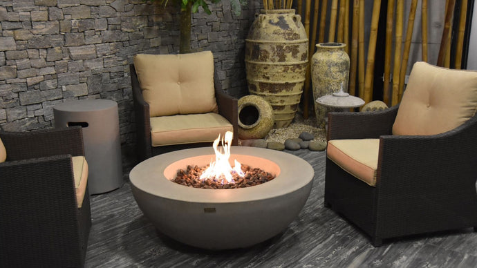 Lunar Bowl Fire Table - Cozy Corner Patios