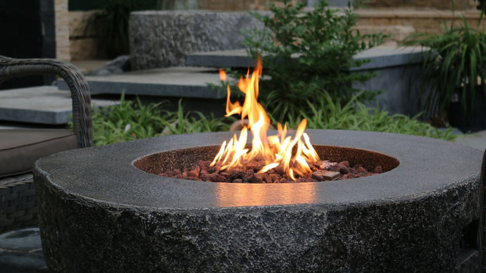 Fiery Rock Fire Table - Cozy Corner Patios