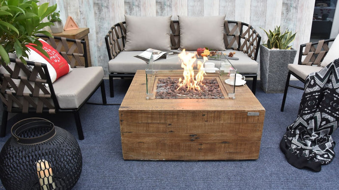 Mansfield Fire Pit (Redwood) - Cozy Corner Patios