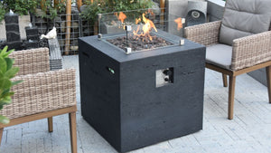 Ellington Fire Table (Matt Black) - Cozy Corner Patios
