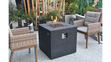 Load image into Gallery viewer, Ellington Fire Table (Matt Black) - Cozy Corner Patios