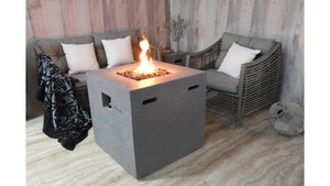 Ellington Fire Table (Light Grey) - Cozy Corner Patios