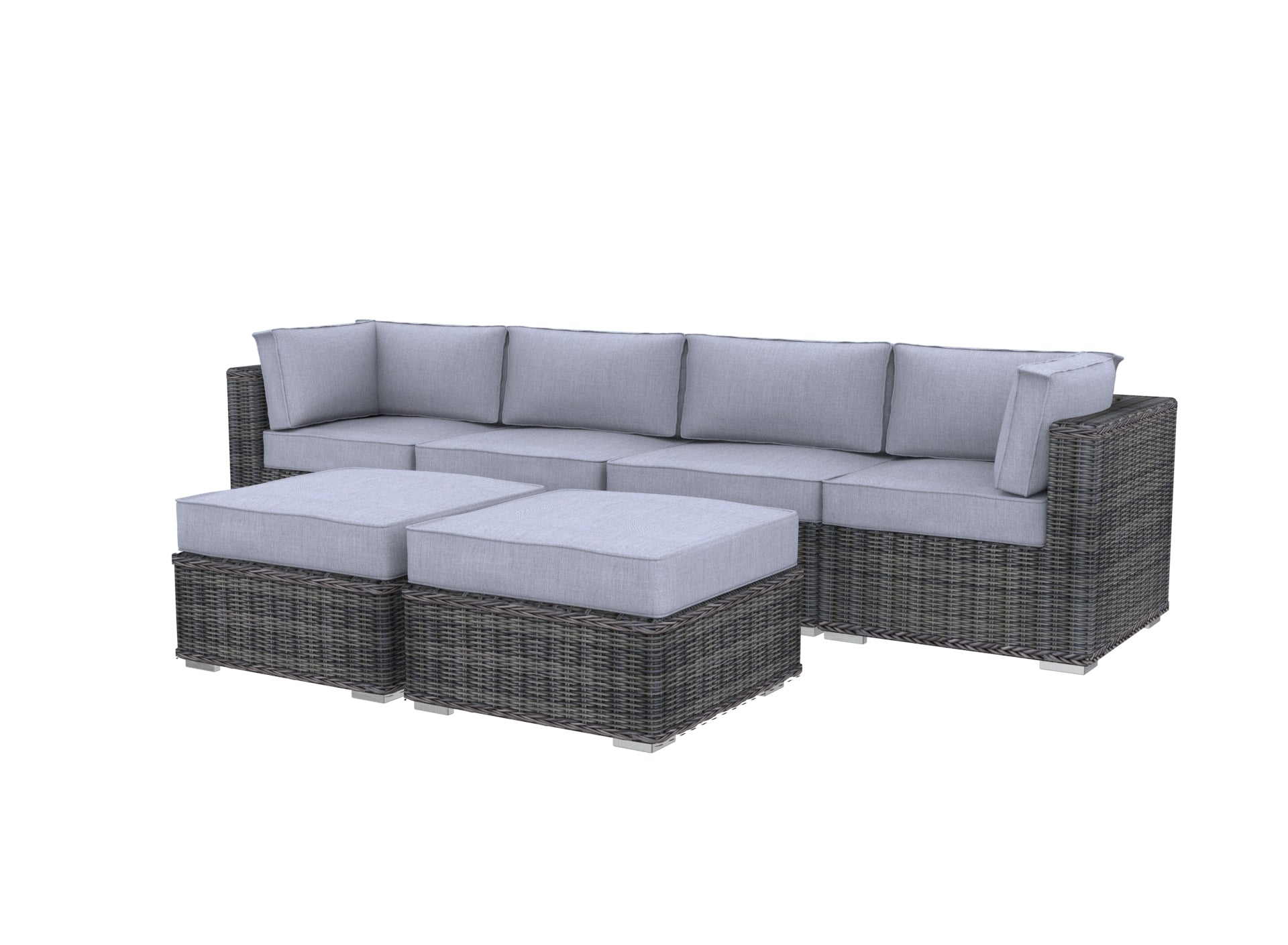 The Volcanoes  - 6pc Sunbrella® Outdoor Sofa Set - Cozy Corner Patios