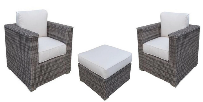 The Palmetto - 3pc Sunbrella® Outdoor arm chair set - Cozy Corner Patios