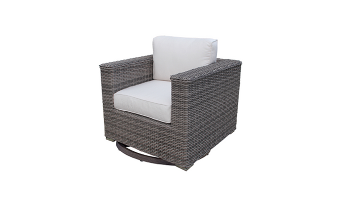 The Swivel Club Chair - Cozy Corner Patios
