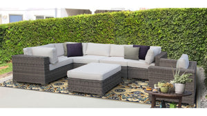 The YellowStone - 7pc Sunbrella® Outdoor Sofa Set - Cozy Corner Patios