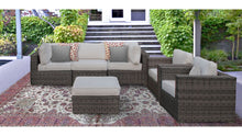 Load image into Gallery viewer, The Yosemite - 6pc Sunbrella® Outdoor Sofa Set - Cozy Corner Patios
