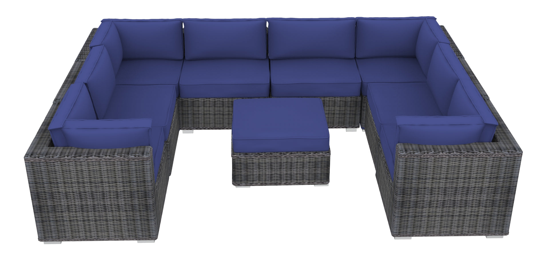 The Great Basin - 9pc Sunbrella® Outdoor Sofa Set - Cozy Corner Patios