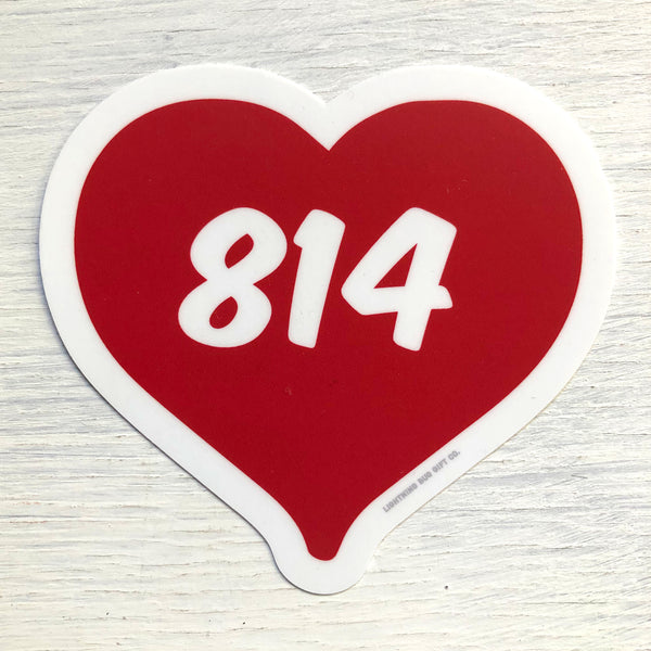 814 Heart Vinyl Sticker