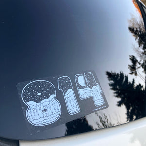 814 Clear Vinyl Sticker