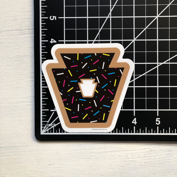 Donut Keystone Vinyl Sticker (Chocolate)