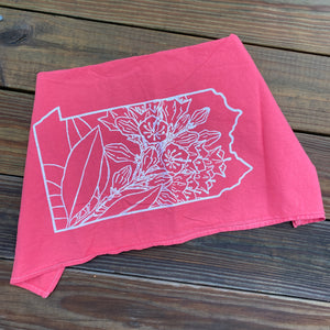 Mountain Laurel Flour Sack Tea Towel