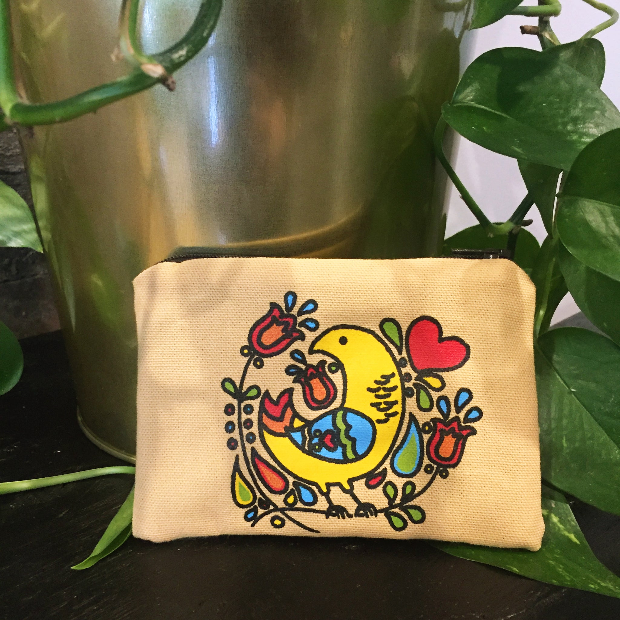 PA Dutch Small Zippered Pouch :: Collaboration with Ameraucana Handmade