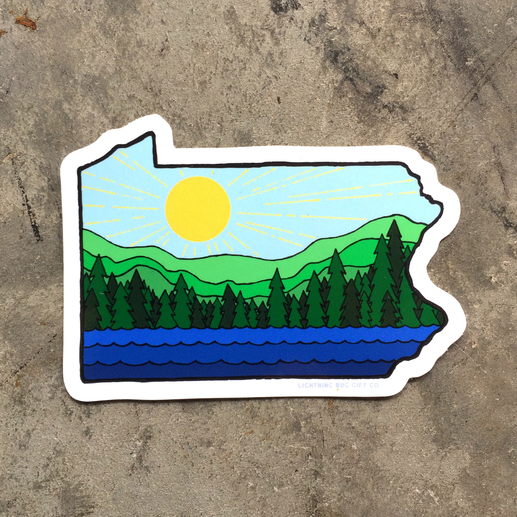 PA Sunshine Vinyl Sticker