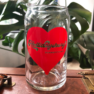 Hollidaysburg Heart Can Glass