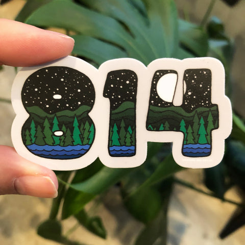 814 Vinyl Sticker - Small
