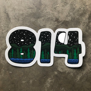 814 Vinyl Sticker - Large