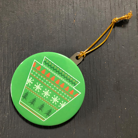 Christmas Sweater Keystone Ornament