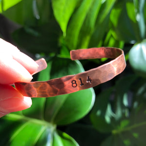 814 Hammered Copper Cuff :: Collaboration with Ossa Gaia
