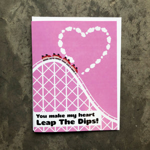 Leap The Dips Love Card