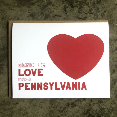Pennsylvania Love Card
