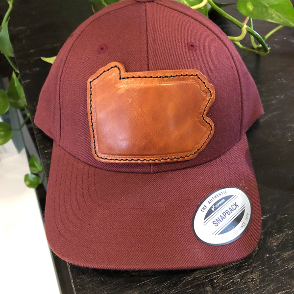 PA Leather Patch Hat - Maroon