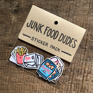 Junk Food Dudes Sticker Pack
