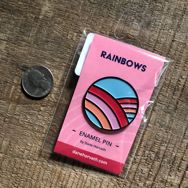 Rainbows Enamel Pin