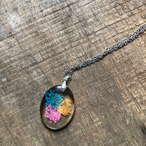 Colorful Queen Anne's Lace Necklace