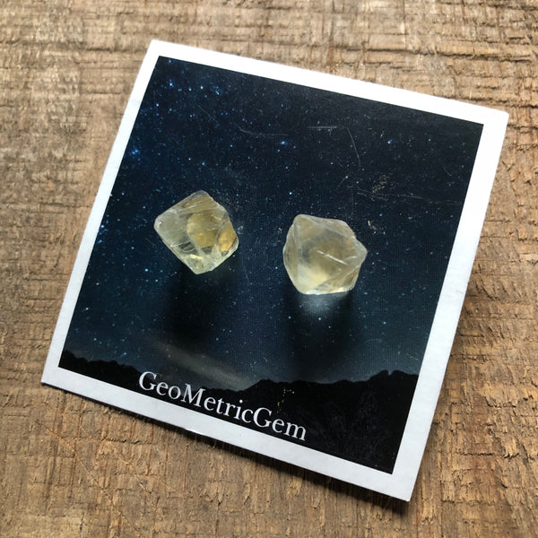 Raw Fluorite Stud Earrings