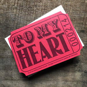 Ticket to My Heart Card