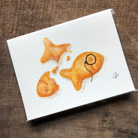 Goldfish Cracker Card
