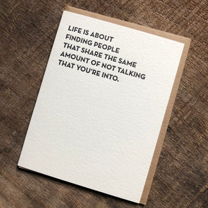 Not Talking Friendship Card