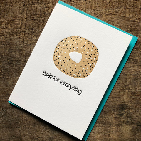 Bagel Thank You Card
