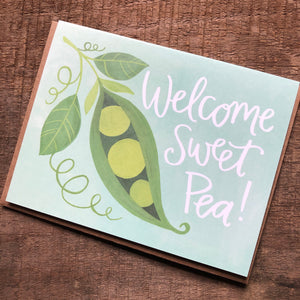 Sweet Pea Baby Card