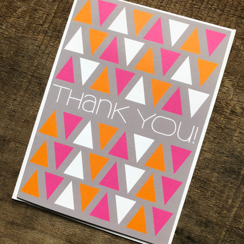 Triangles Thank You Card