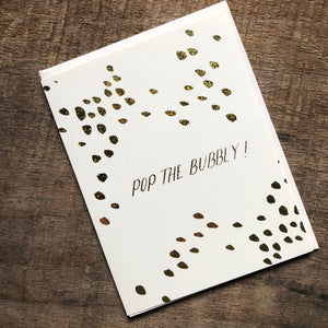 Pop the Bubbly Card