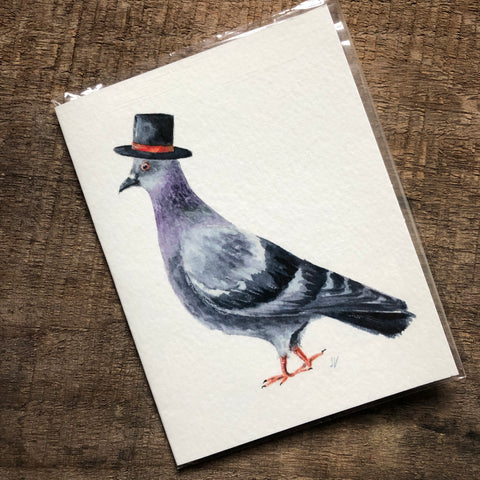 Pigeon in a Hat Card