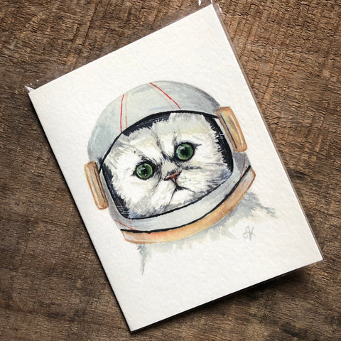 Cat Astronaut Card