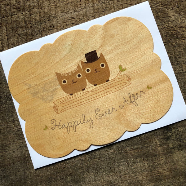 Owls Wood Wedding Card