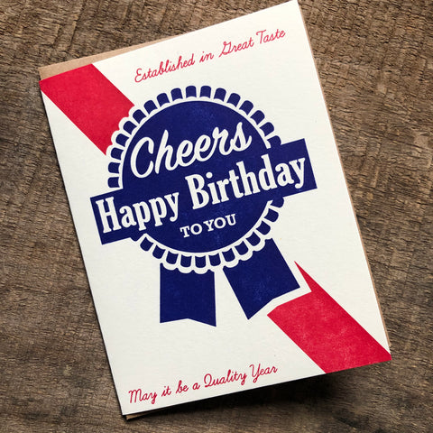 Beer Birthday Card