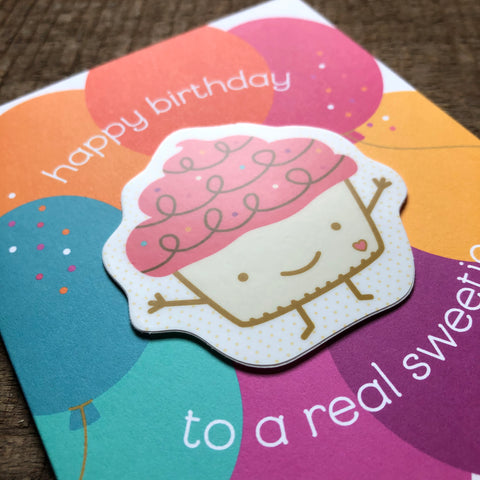 Cupcake Sticker Birthday Card
