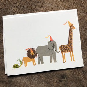 Animal Parade Birthday Card