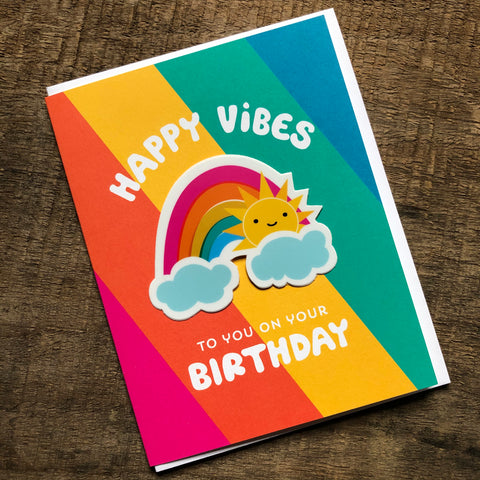 Rainbow Birthday Sticker Card