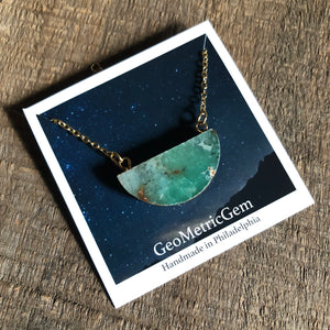Gem Moon Necklace