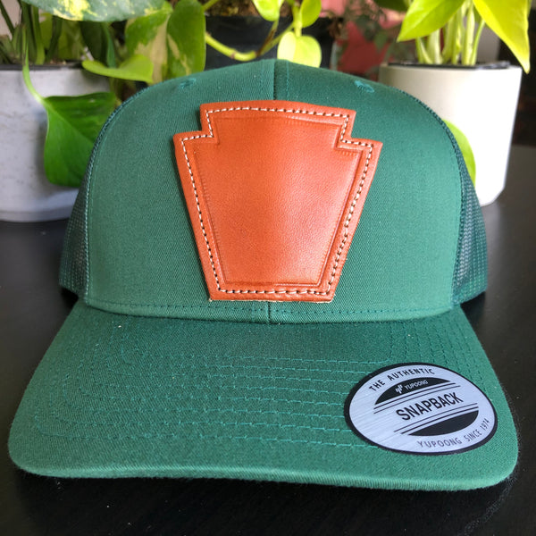 Keystone Leather Patch Hat - Hunter Green